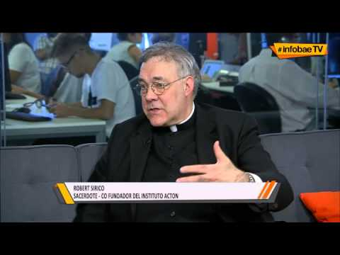 Rev. Robert A. Sirico on Argentinian TV - Pope Francis, Poverty, Politics & Papal Security