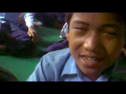 Nepali child singing beautiful song.
