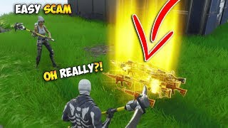 BIG Scammer Tried To Scam Me Twice! (Scammer Gets Scammed) - Fortnite Save The World