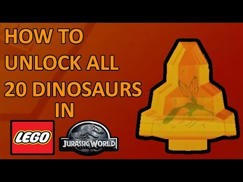 LEGO Jurassic World All 20 Amber Brick Locations - How to Unlock All 20 Dinosaurs