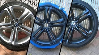 DIY: How to Plasti Dip Wheels + Glossifier (Volkswagen CC)