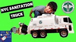 NYC Sanitation Truck Toy Garbage Trucks For Kids: DSNY Motorized Sanitation Truck By Daron