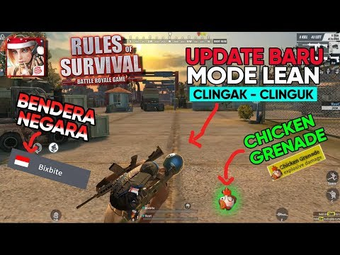 Rules of Survival Indonesia - Ngintip Kiri Kanan, Bendera Negara, Chicken Grenade