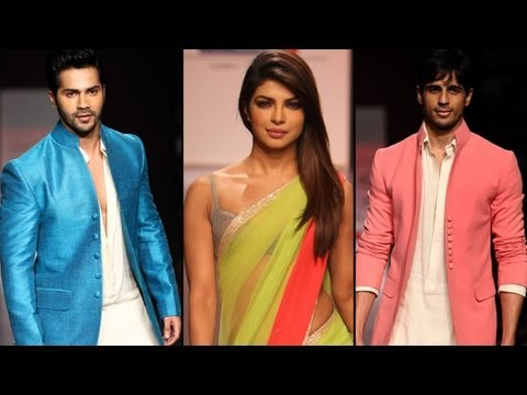 LFW 2013: Priyanka, Varun and Sidharth Walk For Manish Malhotra