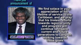 Sir K  Dwight Venner thank you