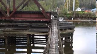 No Trespassing Tour: Private Property; Old Swivel Bridge; It's Old; Hoquiam, WA