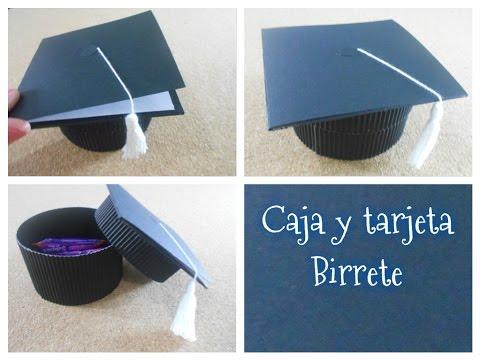 DIY caja + tarjeta en forma de birrete / regalos de graduación