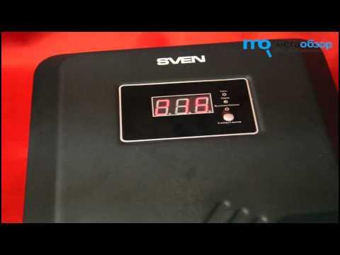 Sven AVR PRO LCD 10000 - описание стабилизатора напряжения