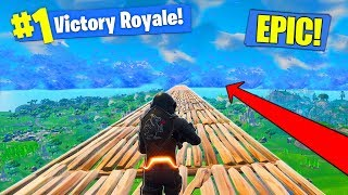 Building The ULTIMATE SKY BRIDGE In Fortnite Battle Royale!