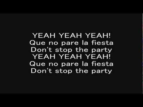 Pitbull - Don't Stop The Party (with Lyrics) video
