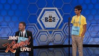 Download Lagu Jimmy Kimmel vs. 14-Year-Old Spelling Bee Winner Gratis STAFABAND