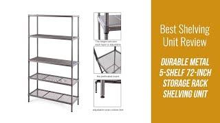 Shelving Unit Review - Durable Metal 5-Shelf 72-inch Storage Rack Shelving Unit