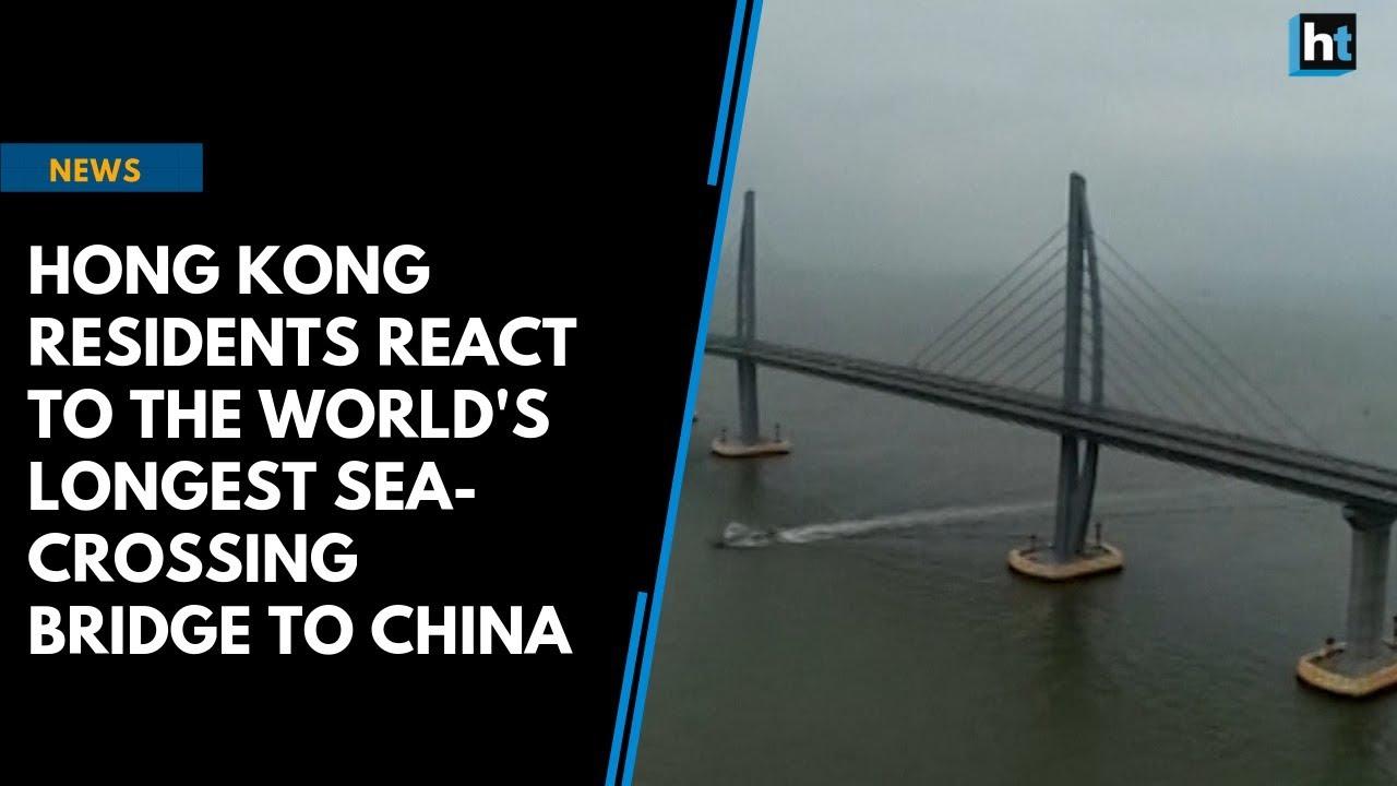 Hong Kong residents react to new bridge to China