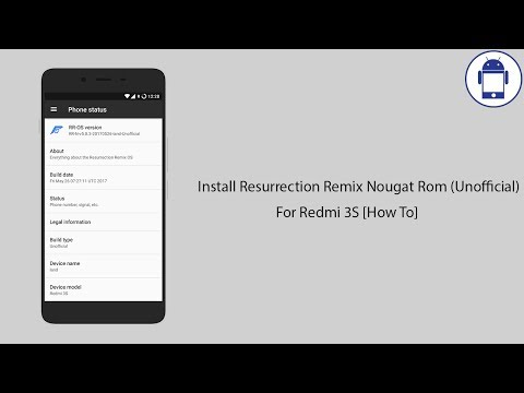 Install Resurrection Remix Nougat Rom (Unofficial) For Redmi 3S [How To]