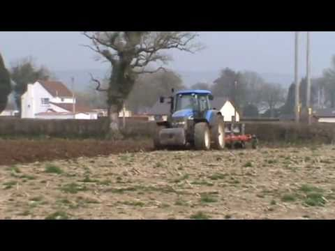 New Holland TM175 Ploughing for Maize.