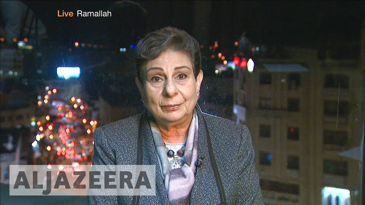 Trump is allowing Israel 'to annexe Jerusalem': Ashrawi