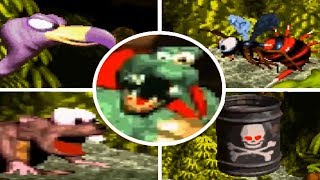 Donkey Kong Country - All Bosses