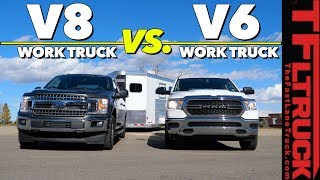 Can a Ford F-150 V8 Be More Efficient Towing than a Ram 1500 V6? Here's The Answer!