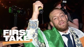 First Take praises Conor McGregor for fight against Floyd Mayweather | First Take | ESPN