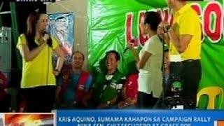 NTG: Kris Aquino, sumama kahapon sa campaign rally nina Sen. Chiz Escudero at Grace Poe