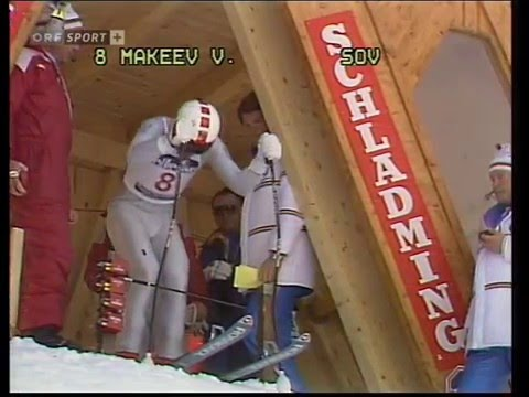 Alpine Skiing Schladming WM 1982 Downhill,  Владимир Макеев (USSR)