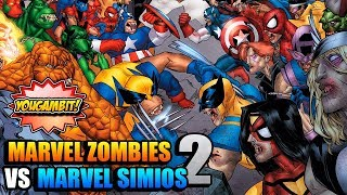 VIDEOCOMIC: MARVEL ZOMBIES VS MARVEL SIMIOS 2 💀 EVIL EVOLUTION - Historia Completa