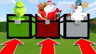 Minecraft PE : DO NOT CHOOSE THE WRONG CHEST! (Santa, Grinch & Frosty The Snowman)