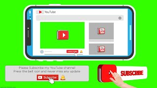 Subscribe Button And Bell Icon Green Screen | New Style