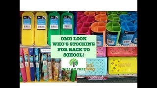 BACK TO SCHOOL IS ON THE SHELVES! || DOLLAR TREE JULY 2018