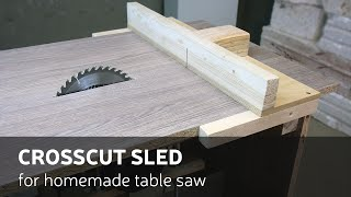 How To Make A Crosscut sled for homemade table saw