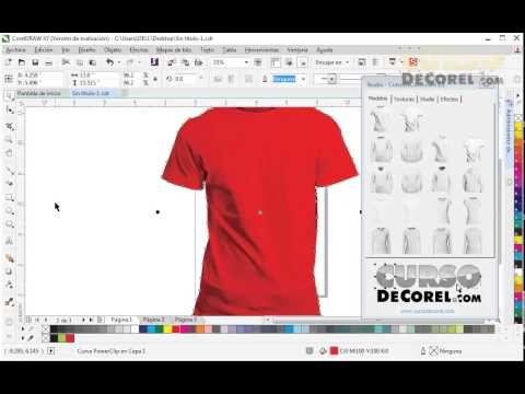Camisetas en Corel Draw X7