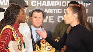 BAD BLOOD! Claressa Shields and Ivana Habazin ALMOST FIGHT at final press conference in NYC!