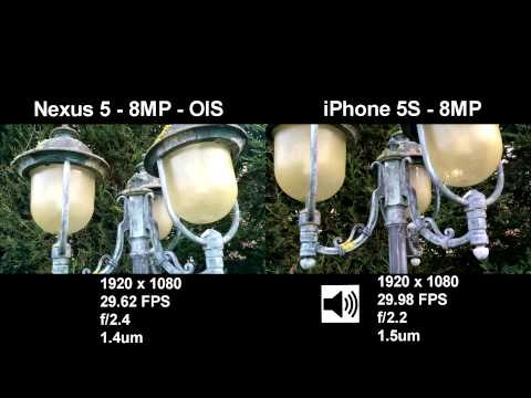 Google Nexus 5 vs. Apple iPhone 5s - 1080p Camera test