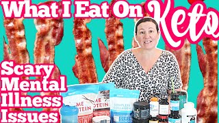 What I Eat on Keto to Lose Weight - 2 Days // REAL Talk SCARY Mental Illness Issues...15k Winner