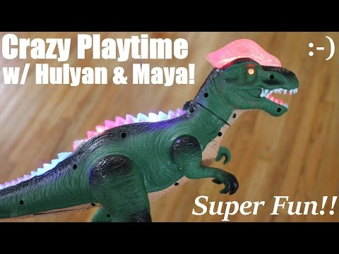 Awesome Dinosaur Toy With Lights And Sound Unboxing And Playtime +  More Toys! video