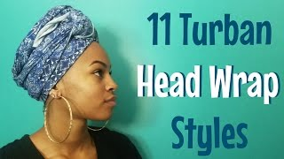 11 Ways to Tie a Turban Headwrap