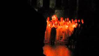 Swedish choir - St. Lucia songs (Bruxelles) 2012