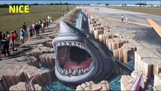Amazing 3D Road Painting Art Prank