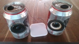 How to make mini speakers using Beer cans