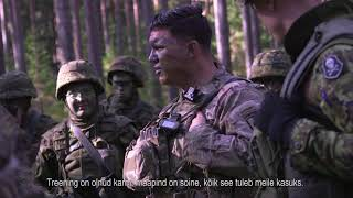 Liitlased ja ajateenijad ühisel õppusel Lõuna-Eestis