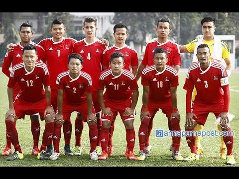 Nepali Football Team Play Against Bhutan 12th SAG Championship