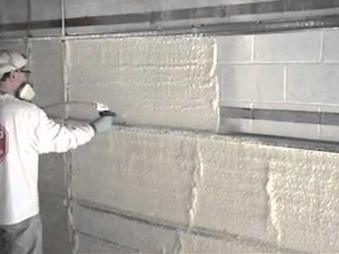 Concrete block with foam insulation for Glass block r value