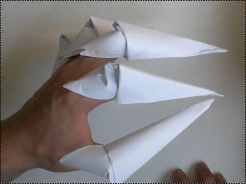 Как сделать из бумаги когти.