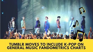 BTS news today: Tumblr Moves to Include K-Pop on General Music Fandometrics Charts