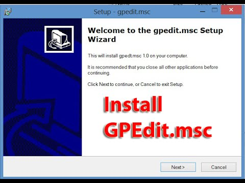 GPEdit.msc Windows 8.1 Missing