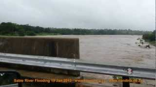 Sabie River Flooding Kruger National Park 19 January 2013
