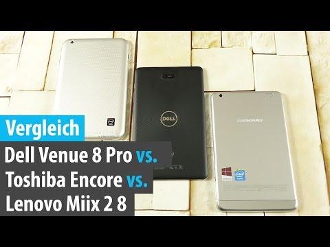 Vergleich: Dell Venue 8 Pro vs. Toshiba Encore vs. Lenovo Miix 2   tabtech.de