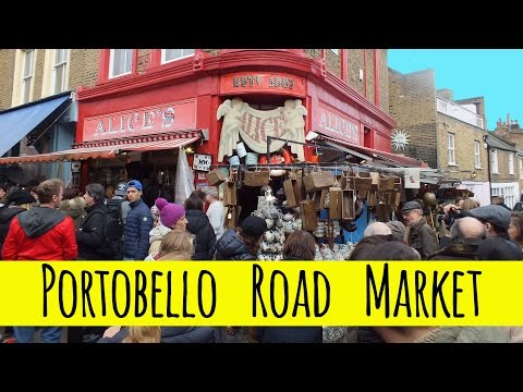 London Newsflash: Shopping at Portobello Road Market, Notting Hill (Antiques, Fashion, Food & More)