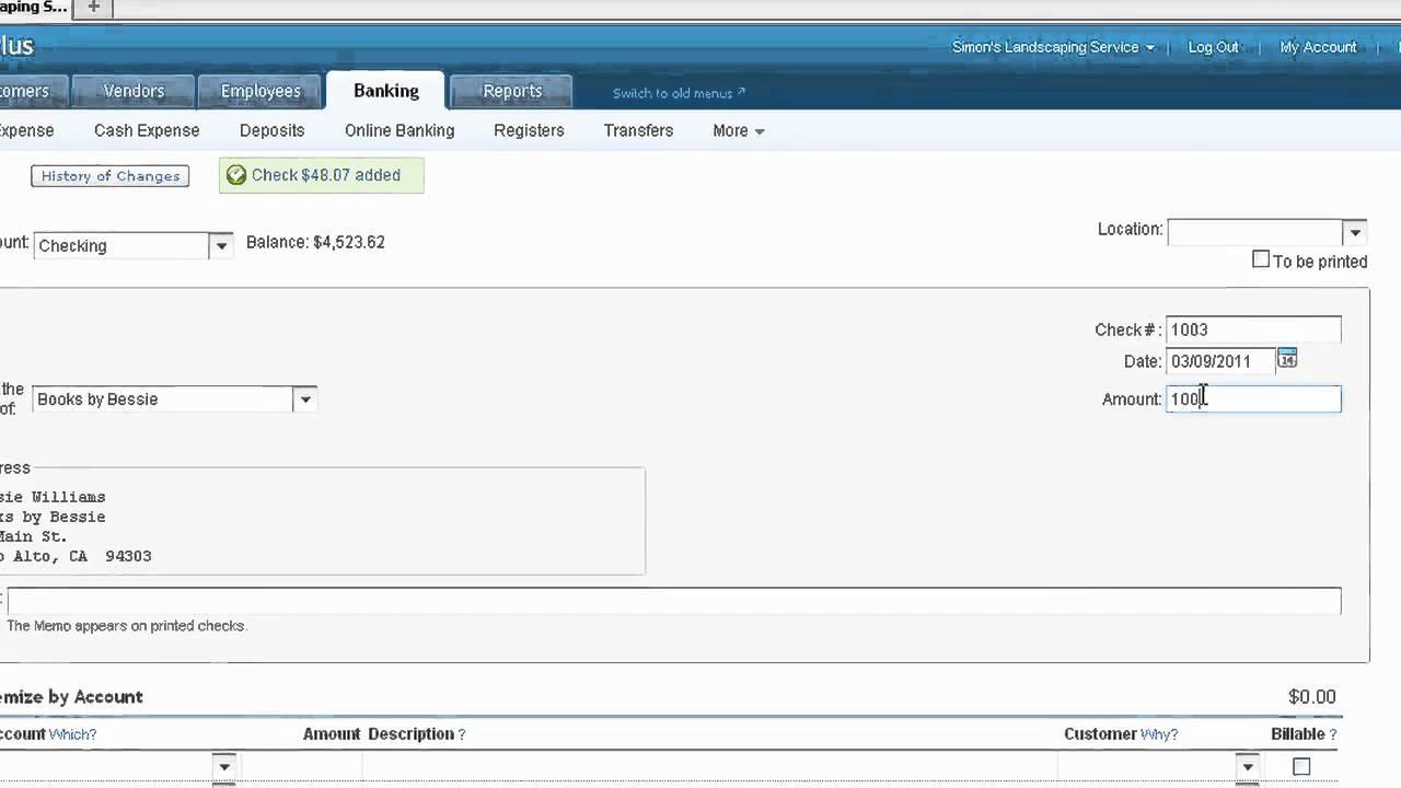 quickbooks online - enter an expense