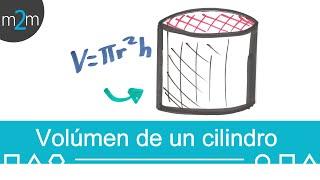 Como calcular el VOLUMEN de un CILINDRO